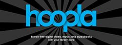 Graphic of Hoopla logo