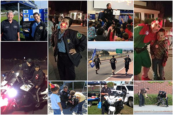 Police Department Community Programs Collage