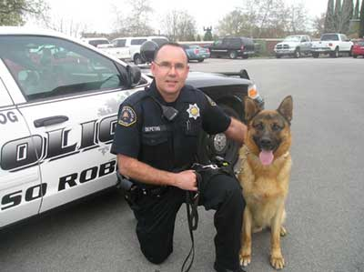 K9 Ir and Officer DePetro