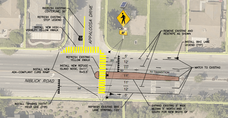 Appaloosa and Niblick crossing improvements