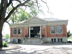 Carnegie Library in the Downtown City Park